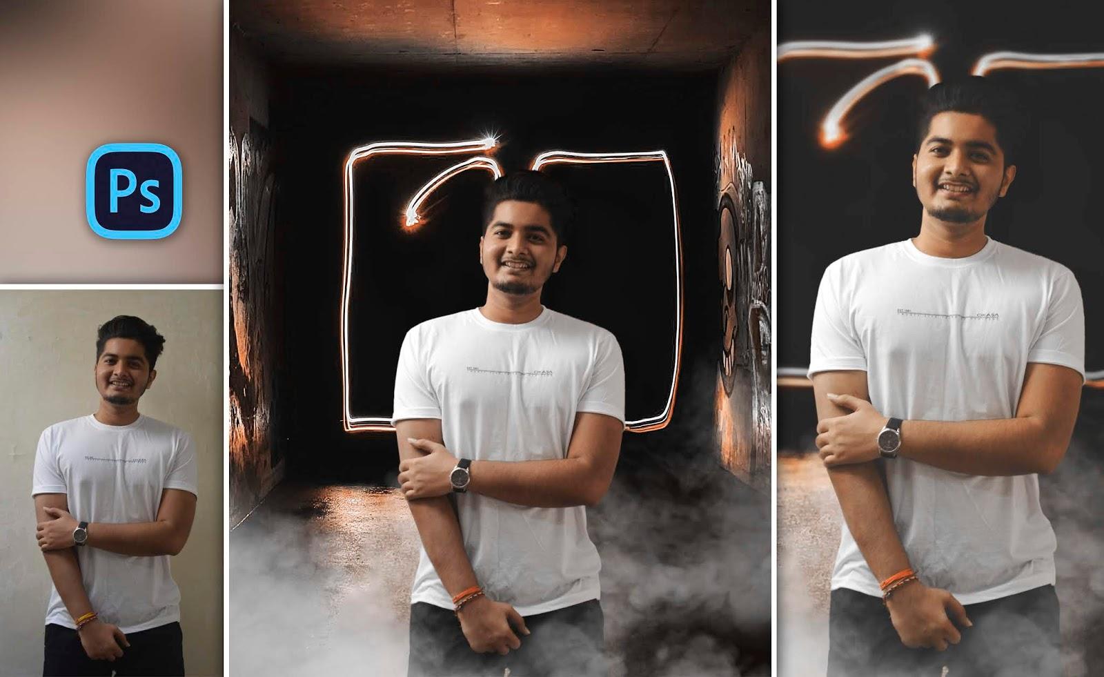 How to Create Neon Lights Photo Manipulation Like Danish Zehen in Photoshop cc