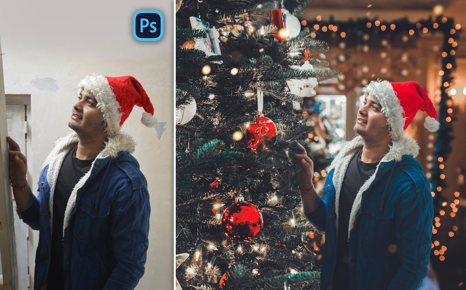 New Concept for Christmas Photo Editing in Photoshop cc Brandon Woelfel Bokeh Style