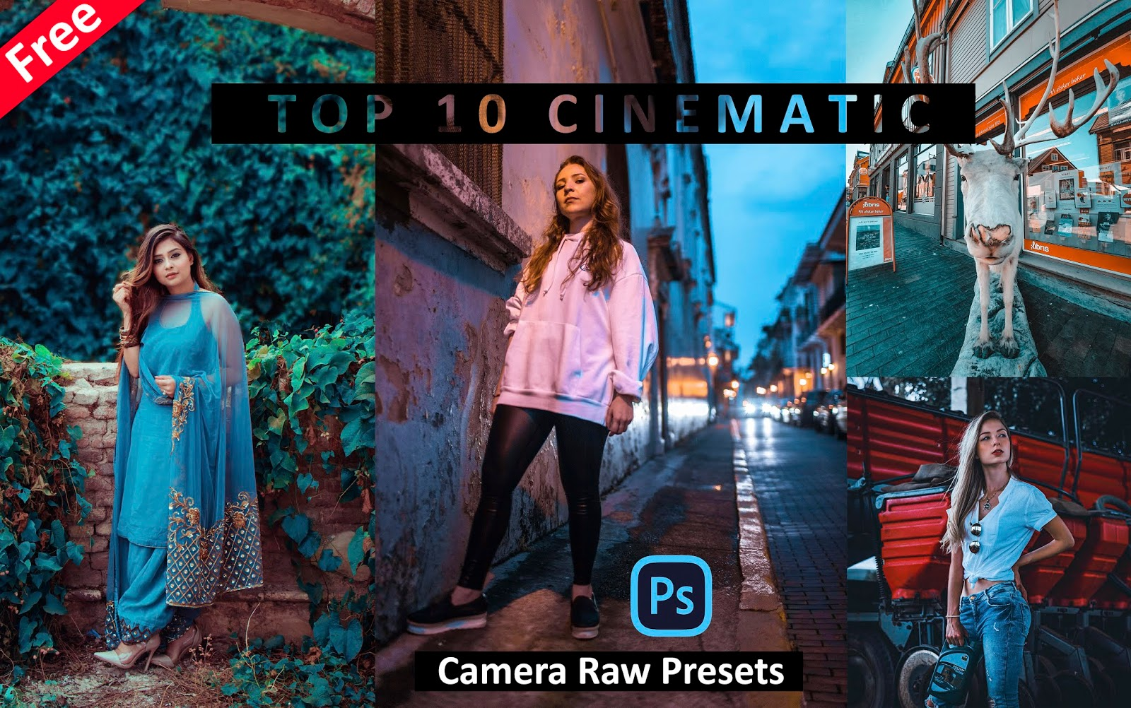 Download Top 10 CINEMATIC Camera Raw Presets for Free | Cinematic Effect in Photoshop