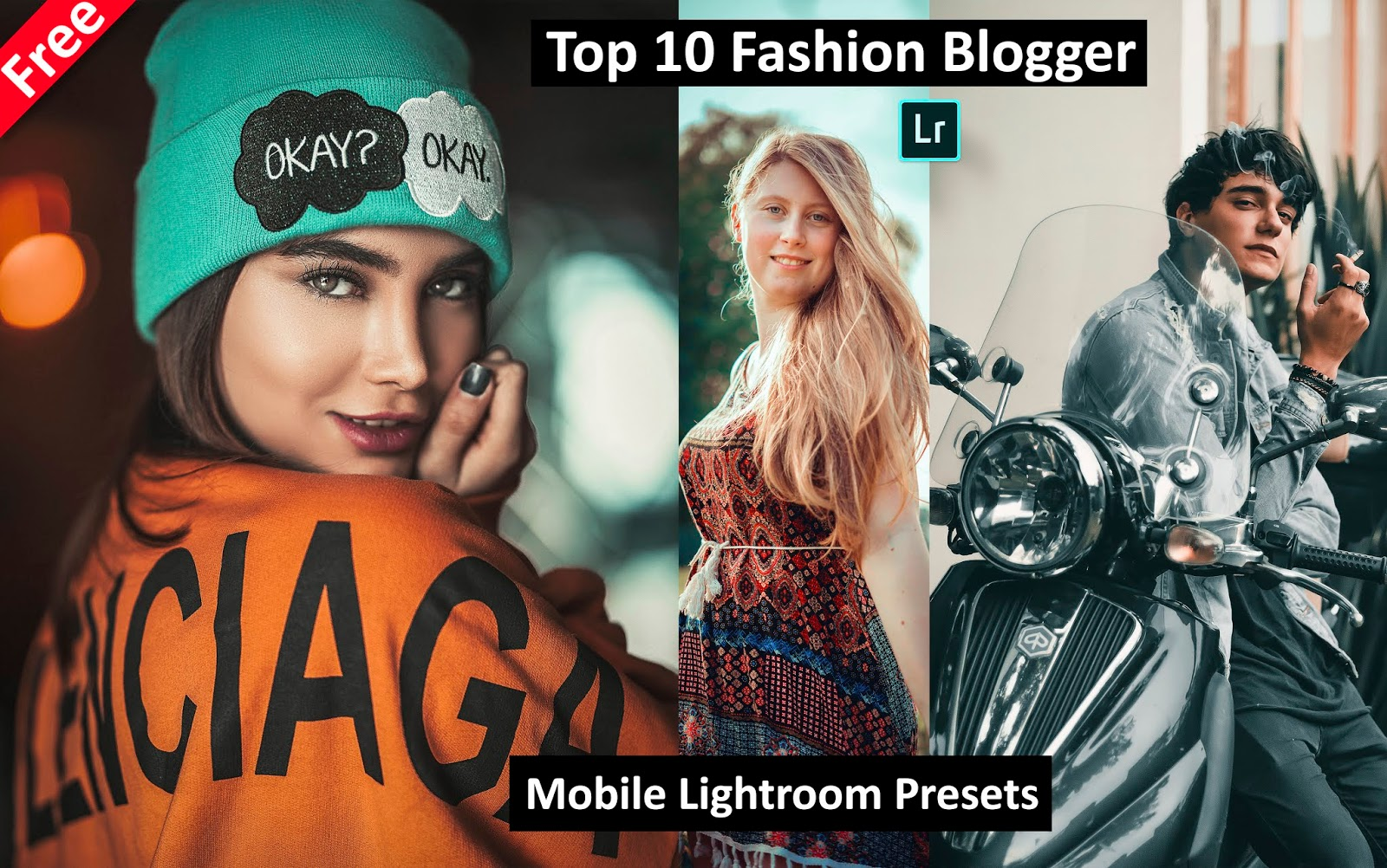 Download Top 10 Fashion Blogger Mobile Lightroom Presets for Free | How to Edit Fashion Portraits in Mobile Lightroom