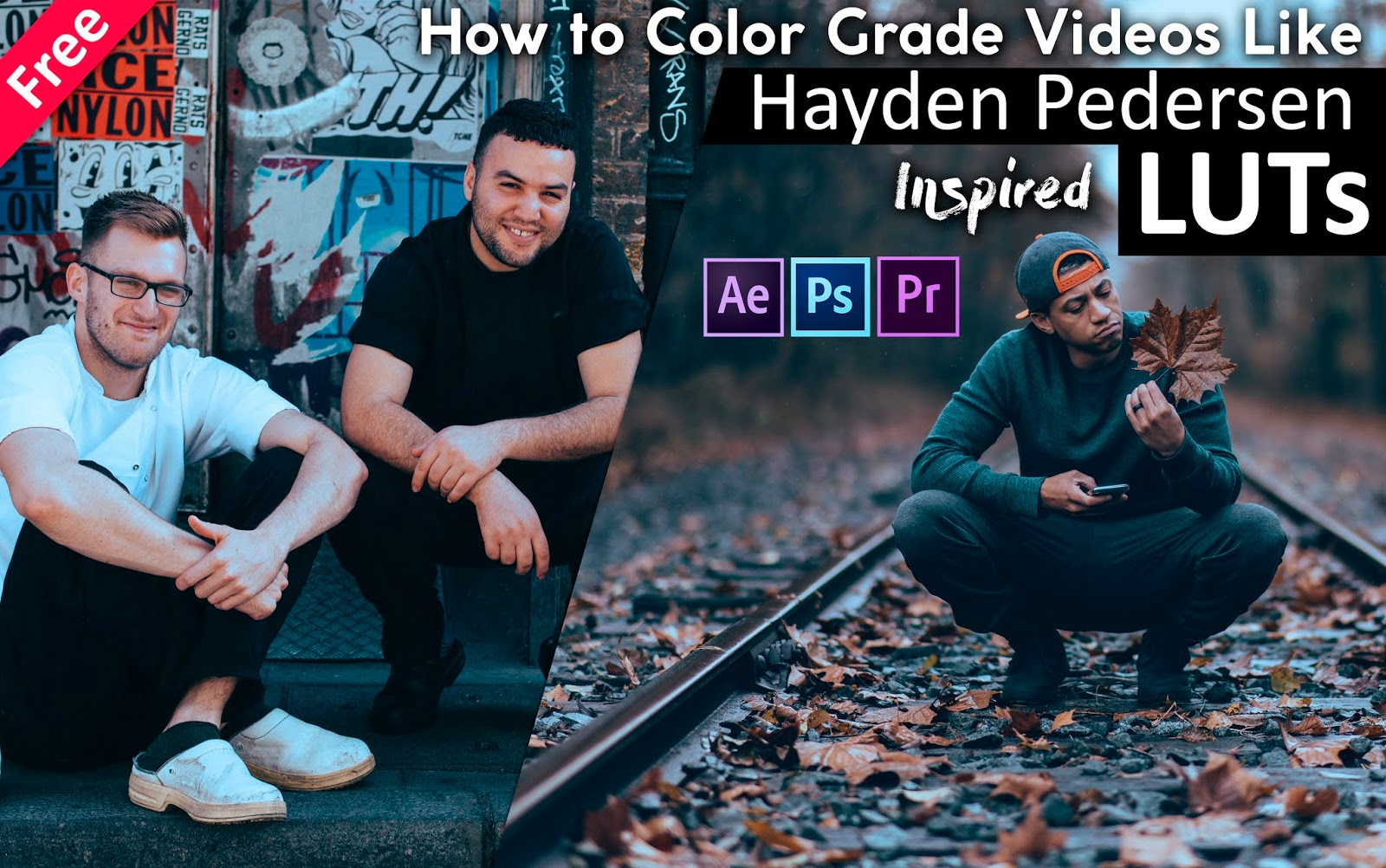 Download Hayden Pedersen Inspired LUTs for Free   How to Color Grade Your Videos in Adobe After Effects, Premiere Pro, Photoshop