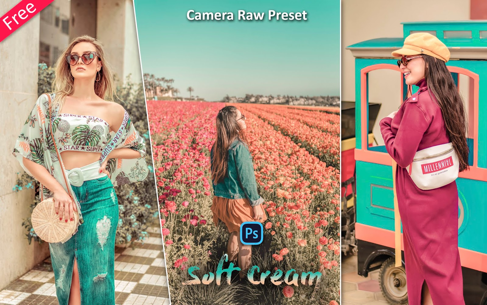 Soft Cream Camera Raw Preset for Free | How to Edit Photos Like Soft Cream Effect in Photoshop