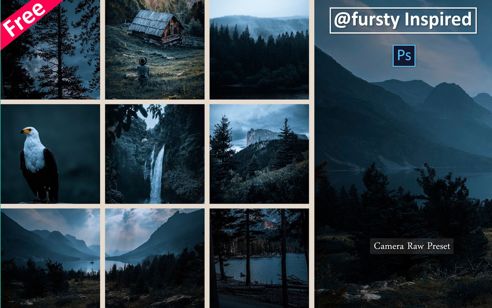 Download Fursty Inspired Camera Raw Preset for Free   How to Edit Photos Like Fursty in Photoshop