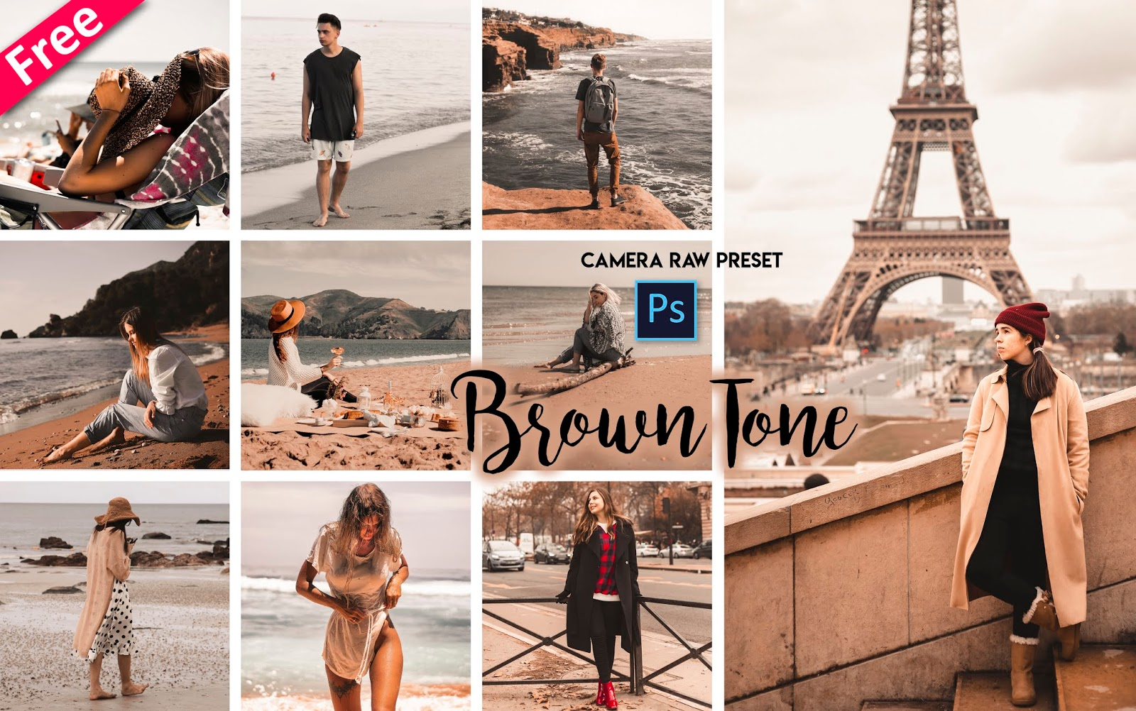 Brown Tone Camera Raw Presets for Free | How to Make Brown Tone Effect to Photos in Photoshop cc