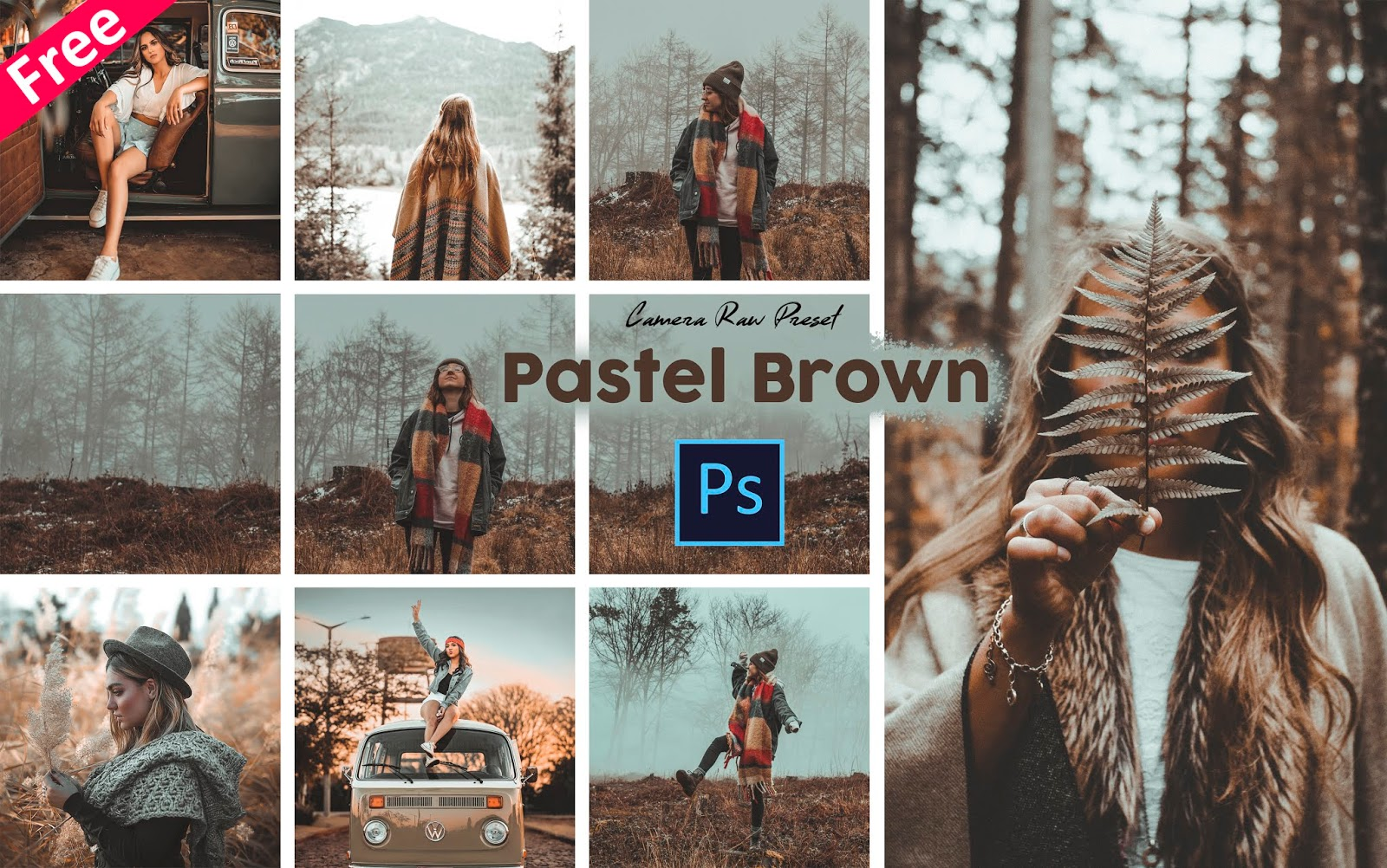 Pastel Brown Tone Camera Raw Presets for Free | How to Make Pastel Brown Tone Effect to Photos in Photoshop cc