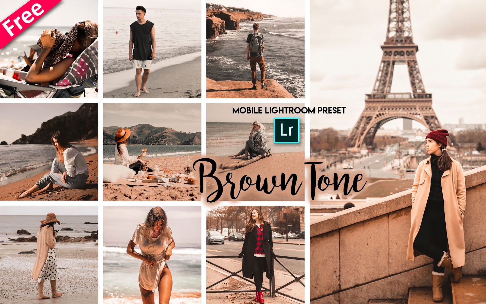 Brown Tone Mobile Lightroom Presets dng for Free | How to Make Brown Tone Effect to Photos in Mobile Lightroom
