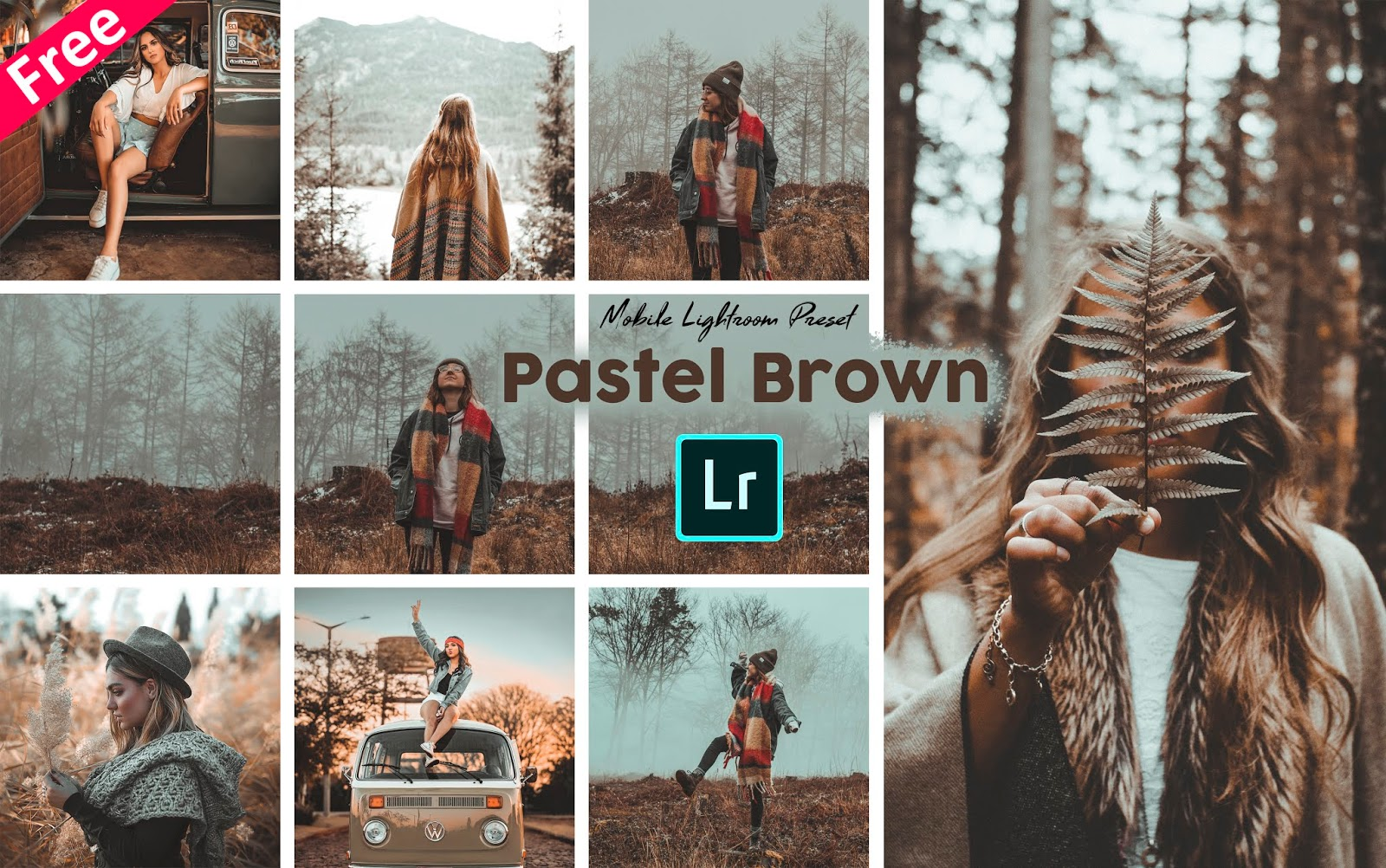 Pastel Brown Tone Mobile Lightroom Presets dng for Free | How to Make Pastel Brown Tone Effect to Photos in Mobile Lightroom