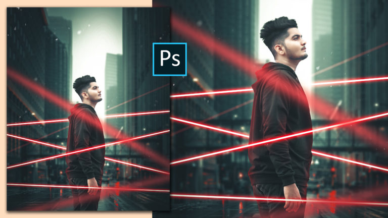 Realistic Neon Lights Cinematic Photo Manipulation in Photoshop cc Like Hollywood Movie   Neon Portrait Editing