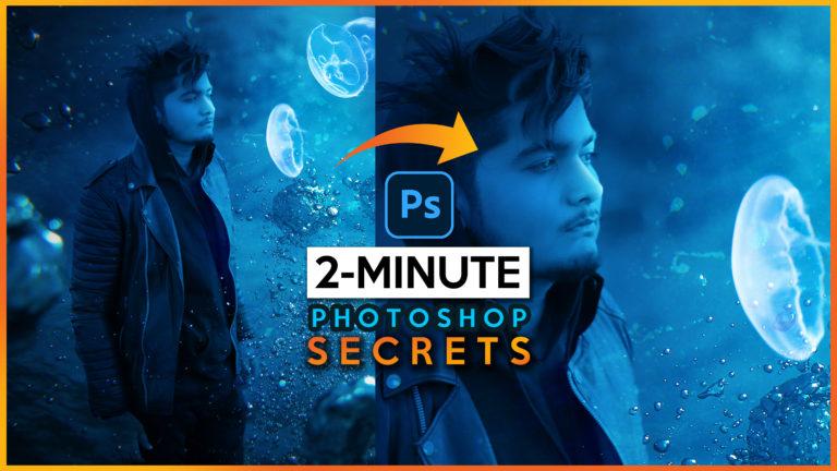 2 Minutes-Photoshop   Underwater Jellyfish Photo Editing Quick & Easy   Underwater Effect in Photoshop