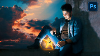 Hindi Photoshop Tutorial | Glowing Star | Calop Style Photo Editing in Photoshop | How to Edit Like Calop